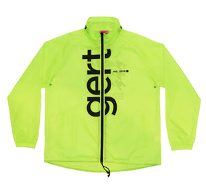 Luminous Yellow Summer Rain Jacket
