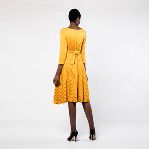 Mustard Royal Pleat Dress *LAST ONE LEFT*