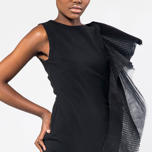 Shoulder cascade dress
