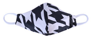 Black & white houndstooth mask