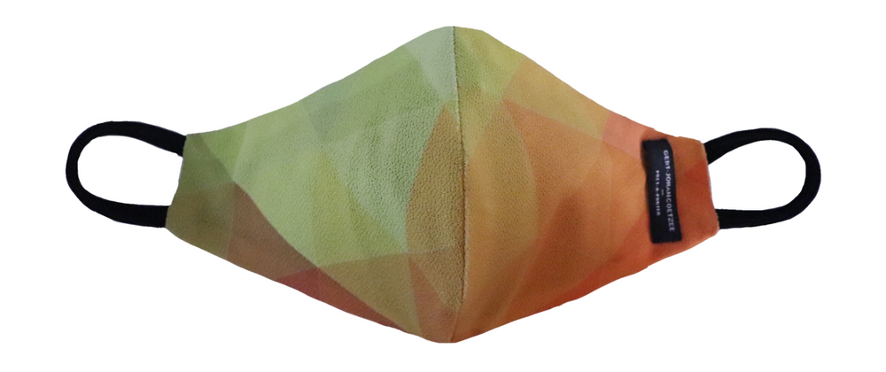 Green & orange geometric mask
