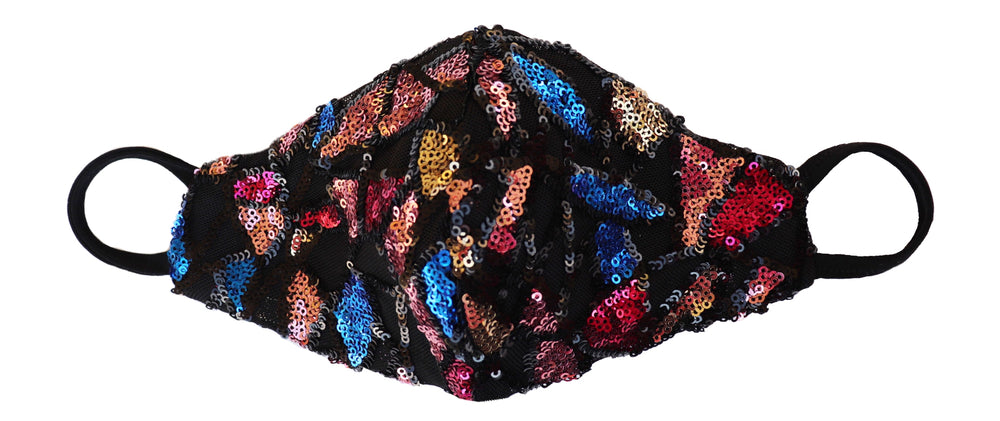 Kaleidoscope sequin mask