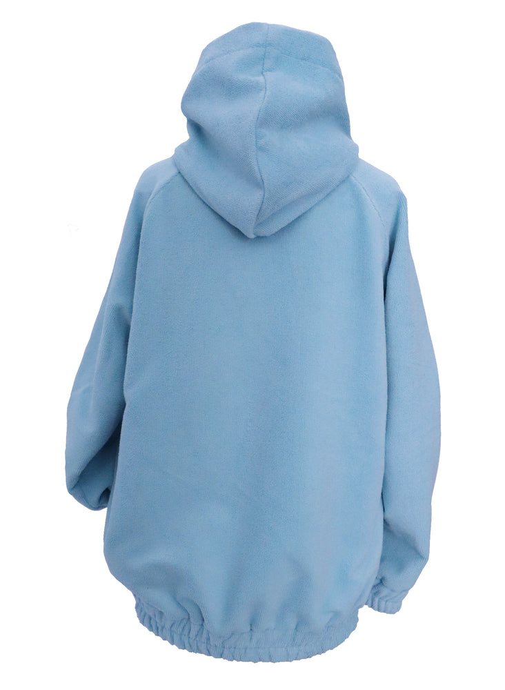 Super soft baby blue micro towling hoodie (corset sold separately)