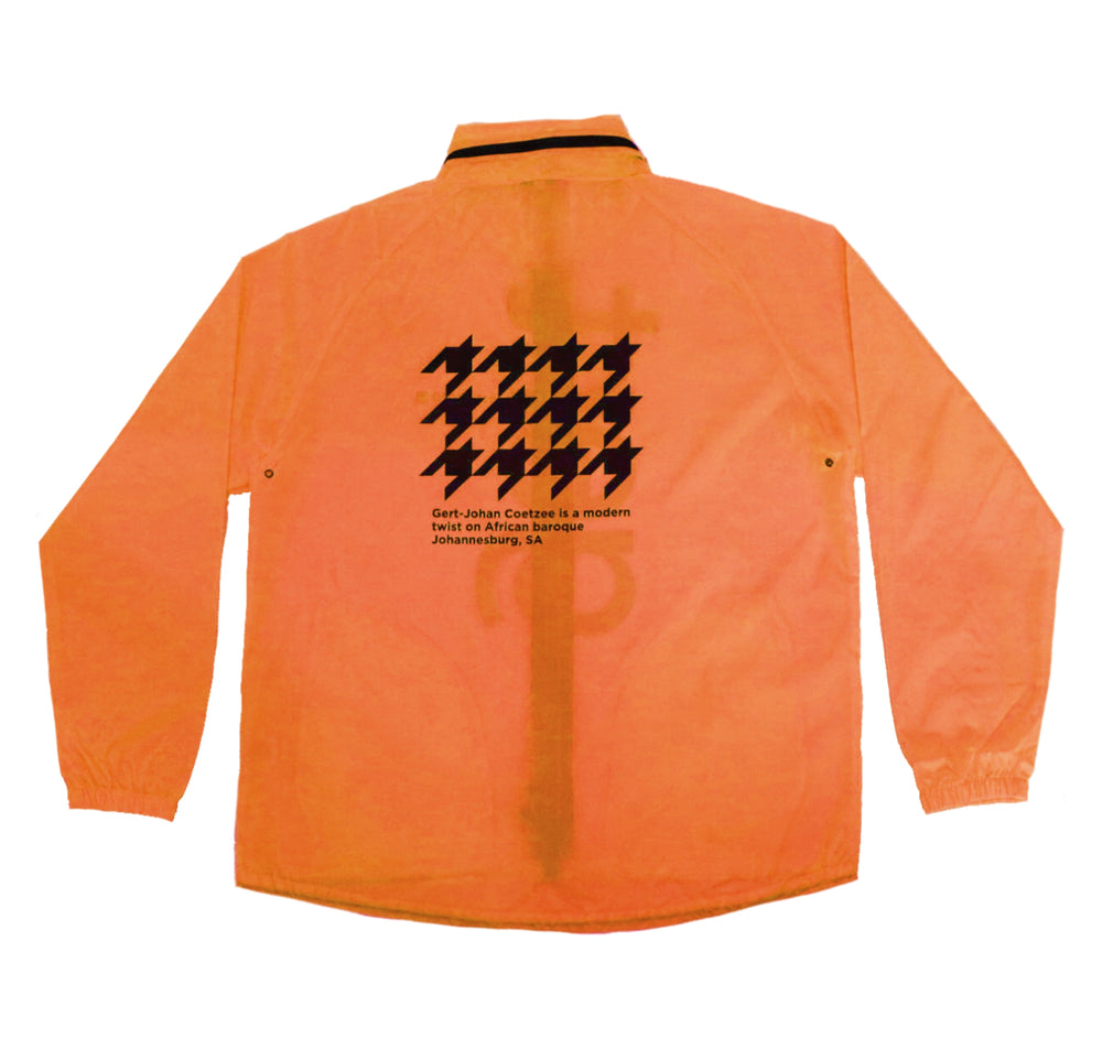Luminous Orange Summer Rain Jacket