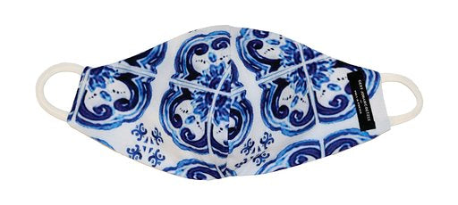Blue Greek tile print Gert-Johan Coetzee Mask