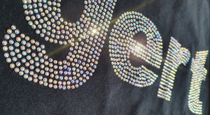Silver crystallized gert T-shirt