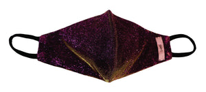 Purple and gold two tone glitter mask
