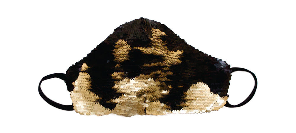 Flip sequin Gold/Black Gert-Johan Coetzee mask