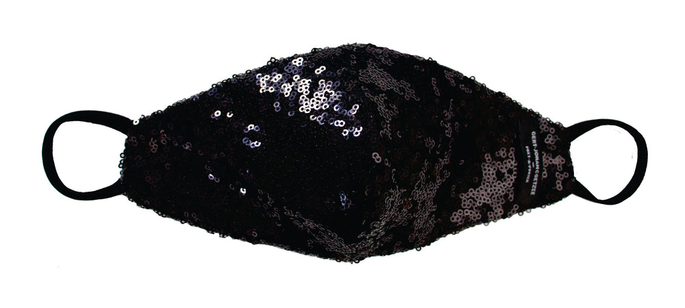 Black sequin mask