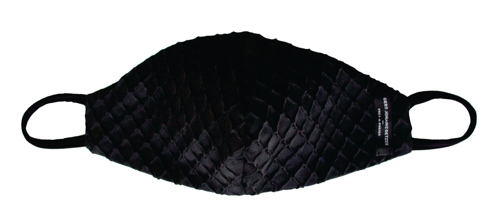 Black honeycomb textured mask