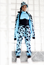 Kraal Couture Tracksuit- Milk Bottle Blue with Black Print *Pre-Order*