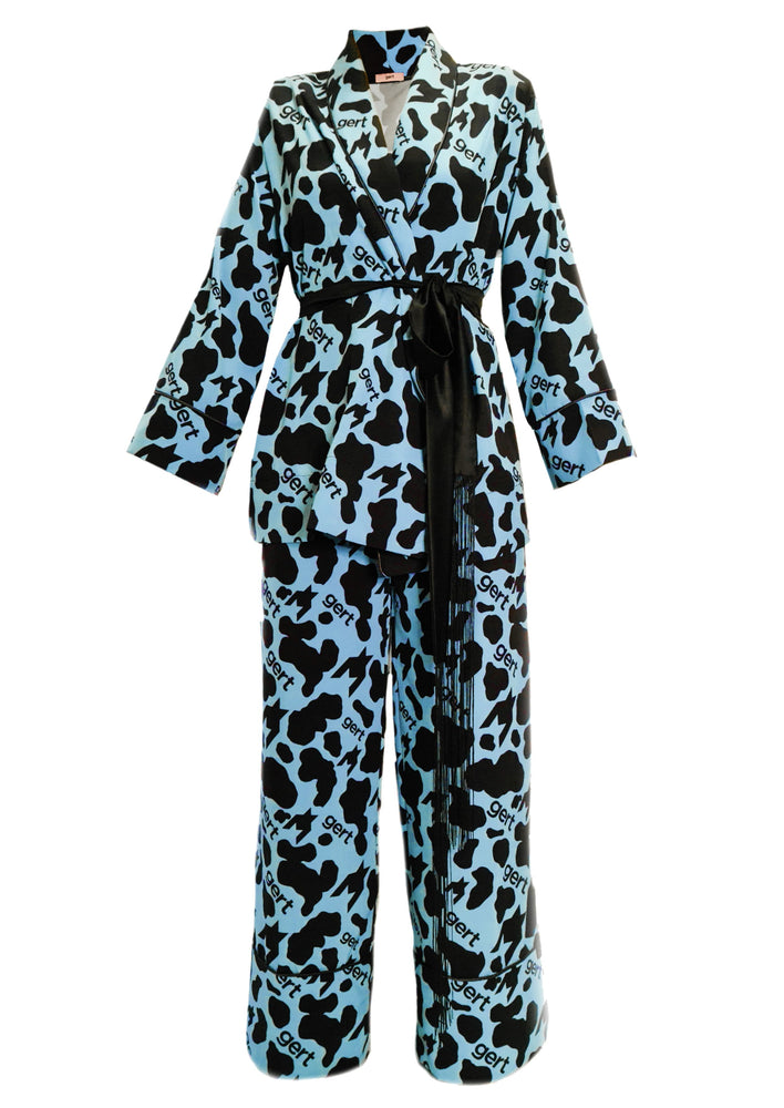 Milk Bottle Blue Pyjama Suit *Pre-Order*