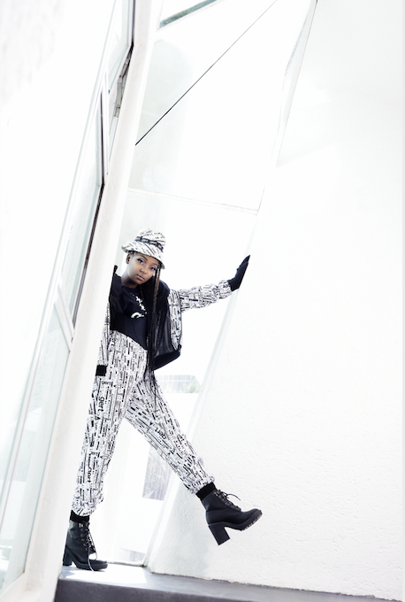 Kraal Couture Tracksuit- White with Black Print *Pre-Order*