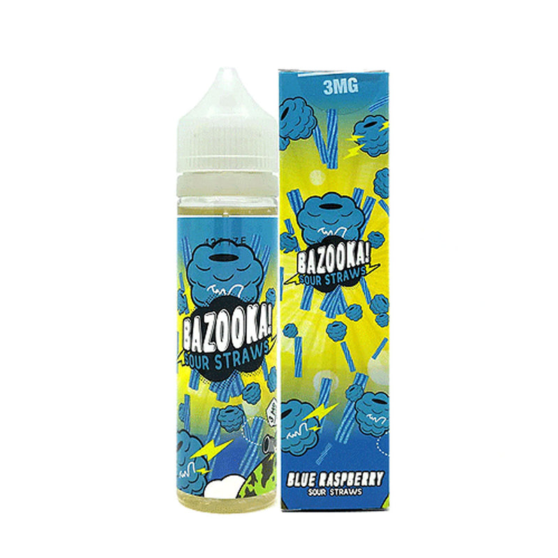 Bazooka Sour Straw - Blue Raspberry