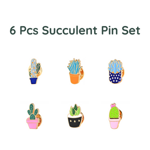 Succulent Inc. - 6 pcs Metal Succulent Pin Set - Free Shipping and taxes included