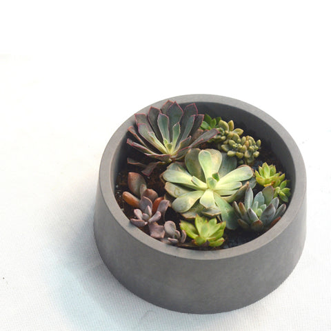 Succulent Inc. - Tapered Cylinder Concrete Planter Silicone Mold - Free Shipping and Taxes Included