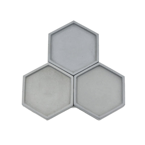 Succulent Inc. - Hexagon Shaped Concrete Tray Silicone Molds - Free Shipping and Taxes Included