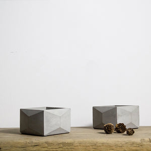 Square Geometric Concrete Planter Silicone Mold
