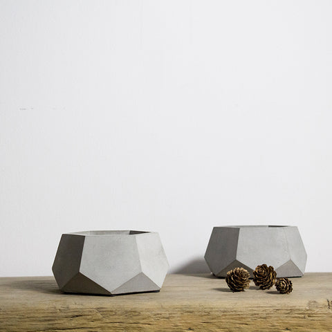 Hexagon Concrete Planter Silicone Mold - Style A 12 cm x 5.5 cm
