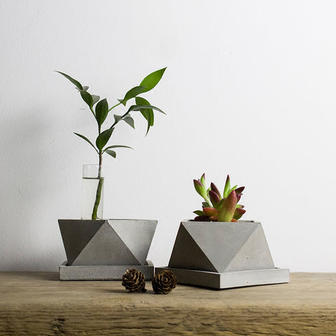 Polygon Geometric Concrete Planter Silicone Mold