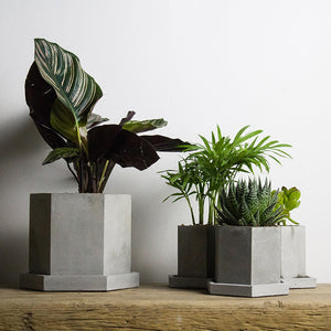 Tall Hexagon Concrete Planter Silicone Mold