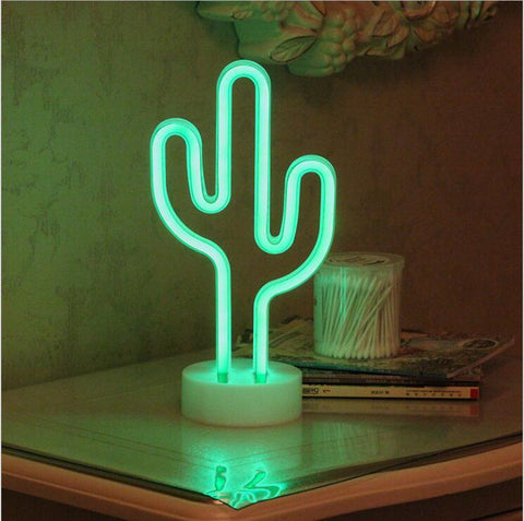 Succulent Inc. - Battery Powered Cactus Neon Night Light - Free Shipping and taxes included