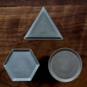 Succulent Inc. - Round - Triangle - Hexagon Shaped Concrete Tray Silicone Molds - Free Shipping and Taxes Included
