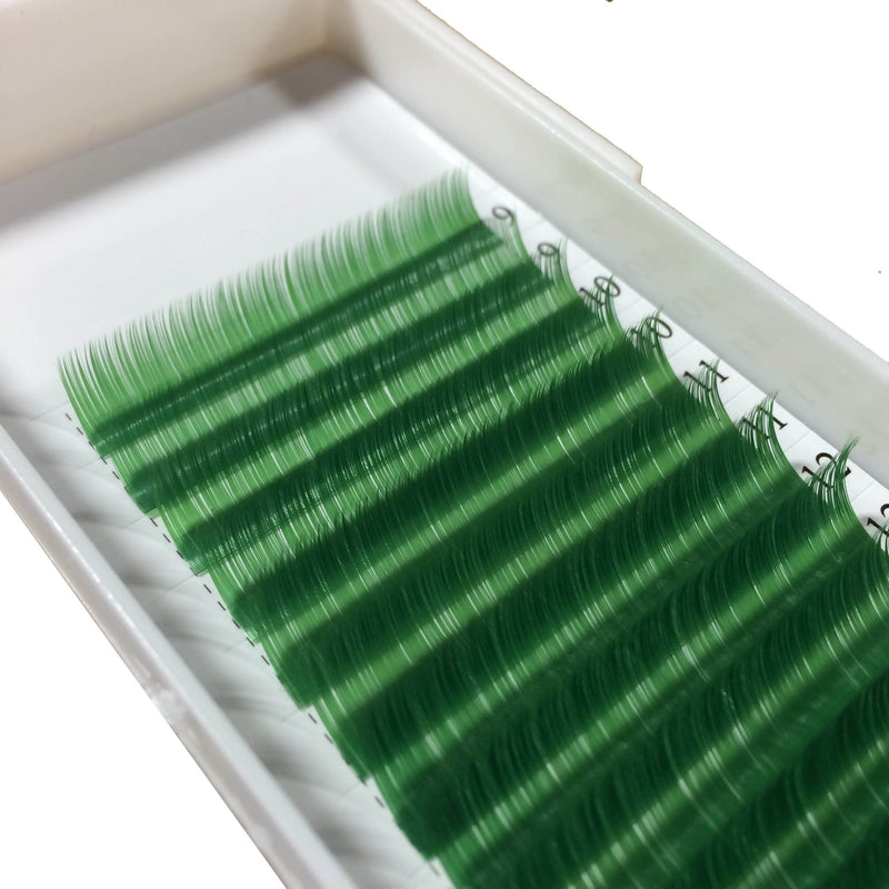 Green Color Lashes