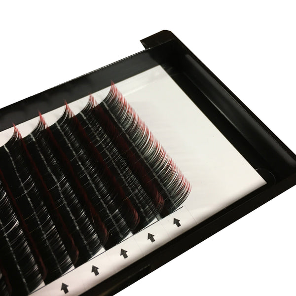 Ombre Lashes Blue/Red/Purple Fade C 0.07