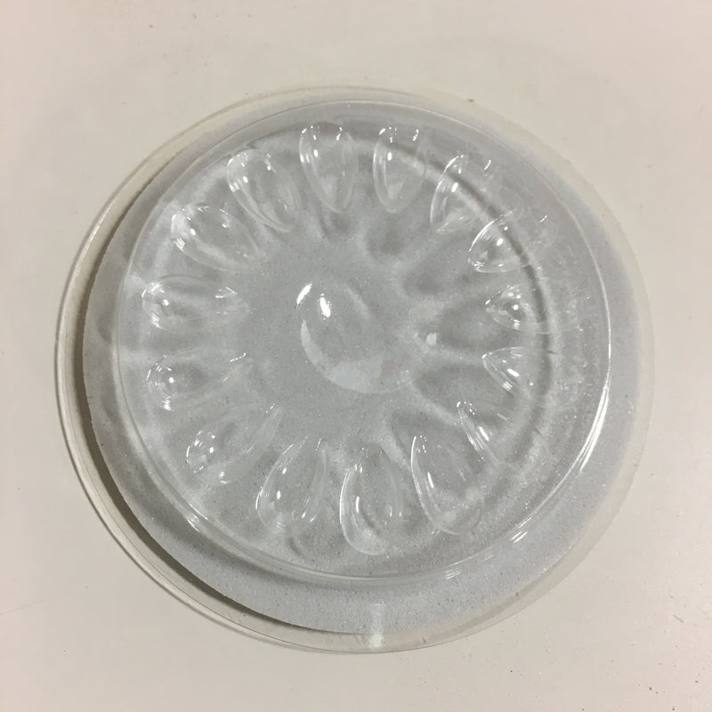 "Circle Plastic Lash Fan and Glue Holder 2"" Disposable"