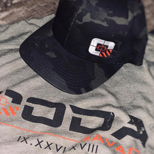 OODA Savage Flexfit Hat w/Logo, Black Multicam