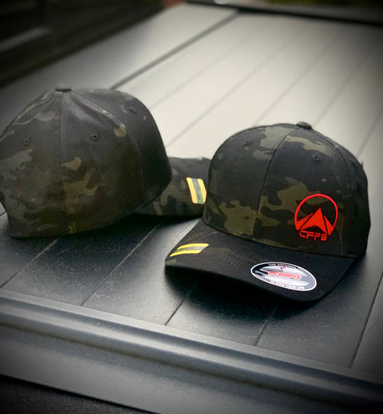 CrossFit PB Flexfit w/ RED or Neon Logo, Black MultiCam