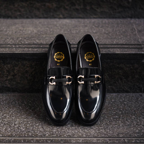 702 Horsebit Plait Loafer X Piano Black