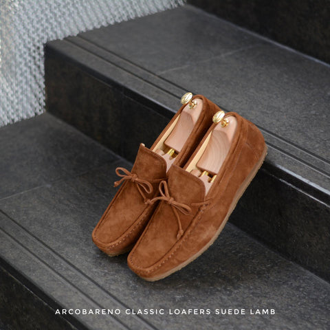 821 Arcobareno Classic Loafer SuedeLamb Whisky