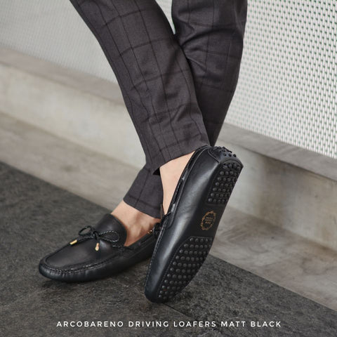 801 Driving Loafer Matt Black with Plait Lace