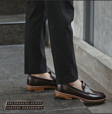 509 Penny Loafer DarkBrown - Wooden Sole x SuedeLamb