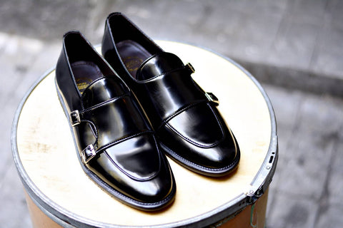 504 Double Monk Strap Black