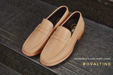 509-1 Wide Front Penny Loafer Ovaltine - Wooden Base