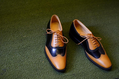 Brogue Shoe Oxford cap-toe