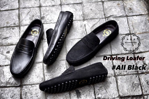 803 Driving Loafer All black