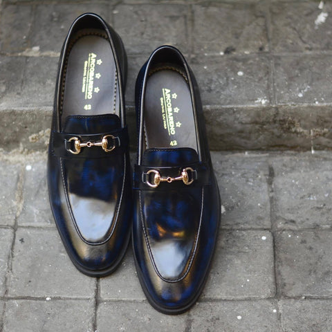 702 Horsebit Loafer X Italian Blue