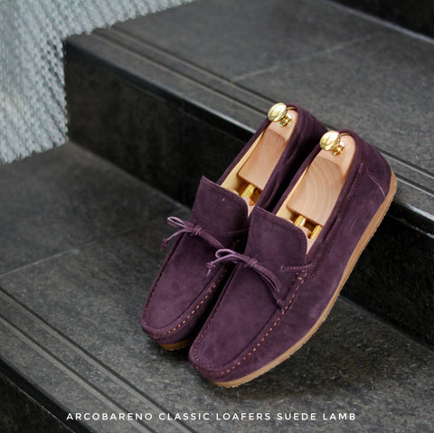 821 Arcobareno Classic Loafer SuedeLamb Purple Wine