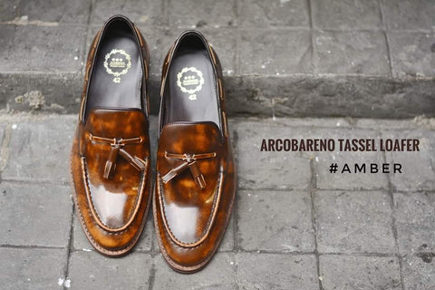 503 Tassel Loafer Amber - Lace - Wooden Soles