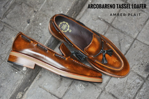 505 Tassel Loafer Amber - Plaid - Wooden Soles