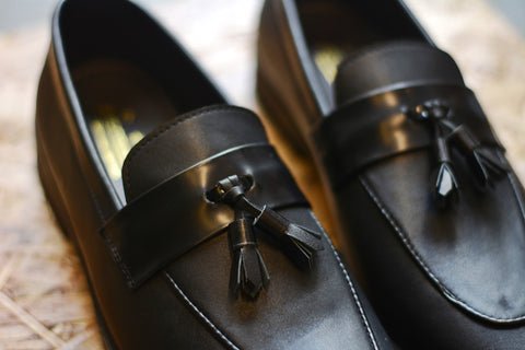 503 Tassel Loafer Matt Black Penny Tassels