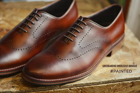 507-1 Brogue Wholecut Whisky Painted