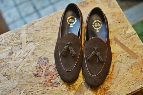 Suede Brown Belgian Loafers