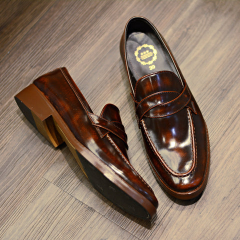 NEW Cross Penny Loafer Burgundy + Wooden