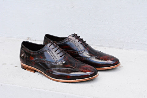 507 Brogue Shoe Lotus Burgundy + Wood