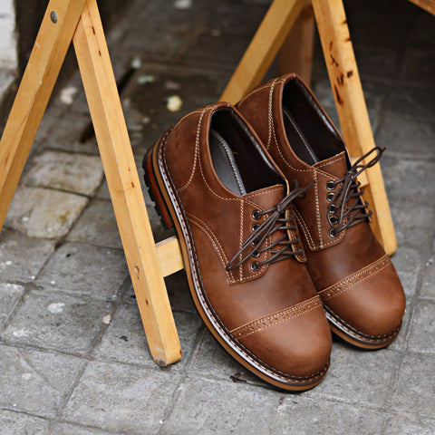 500 Workwear Copper + semi Brogue